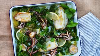 Bbq squid herb bath 14