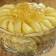 A trifle of pears prunes and sauternes custard