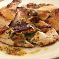 Chicken breast with cumquat and verjuice stuffing