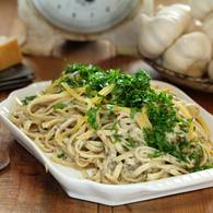Porcini mushroom and verjuice linguine