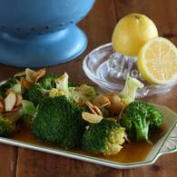 Broccoli with almond lemon butter