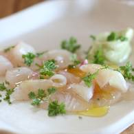 Kingfish sashimi with wasabi mayo