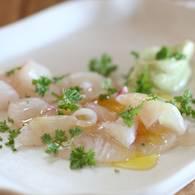 Kingfish sashimi with wasabi mayo