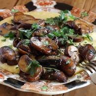 Soft polenta mushrooms 03