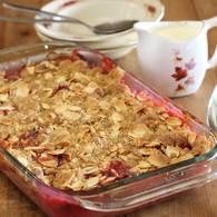 Va   rhubarb crumble