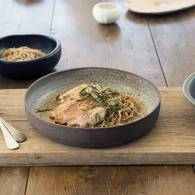 Chicken thighs with miso and ginger with buckwheat noodles approved