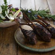 Quince glazed lamb chops