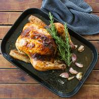 Roast chook with verjuice garlic 10