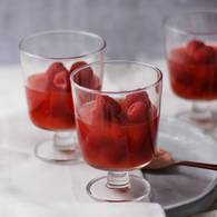 Blood orange jelly with raspberries 1