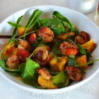 Scallop peach salad 10