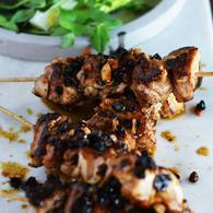Current ginger spice chook skewers 4
