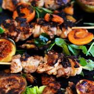 Fig apricot honey chook skewers 5