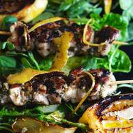 Lemon thyme chook skewers 1